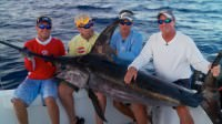 Mark Davis catches a Swordfish while Saltwater fishing off the coast of Islamorada