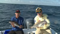 Mark Davis and Kevin Kirsh catch Blue Line Tilefish while saltwater fishing 70 miles off the coast of Virginia Beach