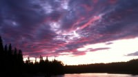 Alaska sunrise on the Kasilof River outside of Soldotna, Alaska